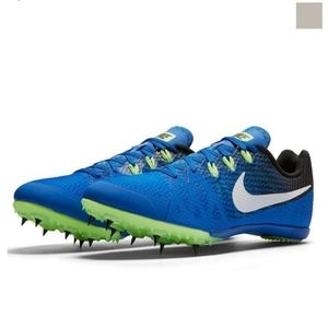 Nike Zoom Rival M track shoes. Blue/Green.